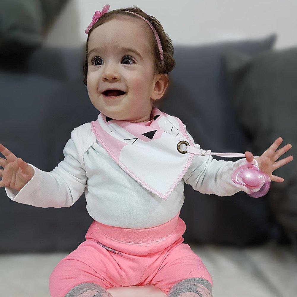 TPU Impermeabile Fodera per Bambino 0-3 anni Colore-1 iZiv Bavaglino Neonato Confezione da 4 Disegni Bandana Bavaglini con Bottoni Regolabile Porta-ciuccio