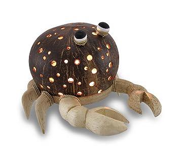 Amazon.com: Reciclado Shell de coco y madera Cangrejo ...