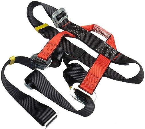 LIWEISDSDFS Cinturón de escalada de seguridad arnés de los hombres ajustable medio cuerpo proteger para al aire libre escalada en roca descenso ...