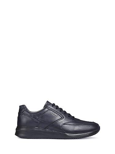 Geox Scarpe Uomo Sneakers U Dennie in Pelle Blu U740GA 00043
