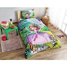 Single Twin Kids Girls Original DISNEY SOFIA THE FIRST 100% Cotton Duvet Cover Bedding Set 3 Pcs