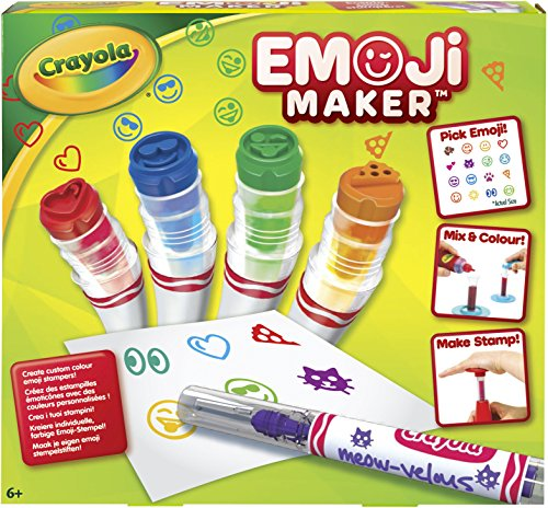 Crayola Emoji Stamp Maker, Marker Maker, Gift, Ages 6, 7, 8, 9, 10, 11, 12