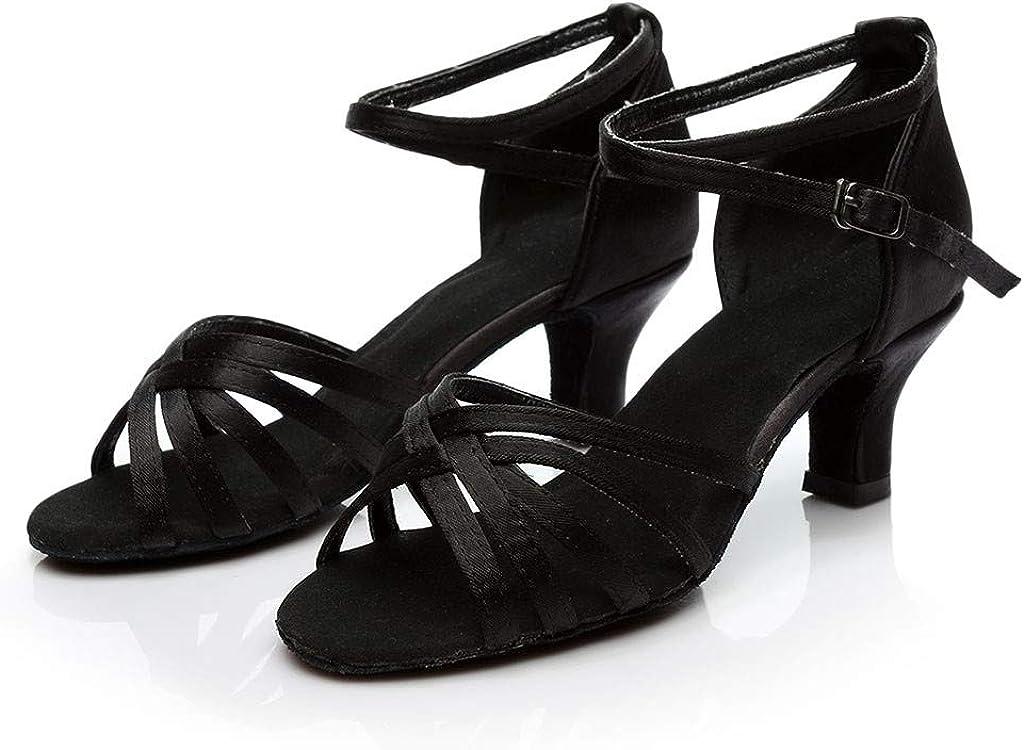 IMJONO Mode Escarpins Femmes/Tango dans Couleur Unie Rumba Valse Bal Salle De Bal Latine Chaussures Salsa Danse Chaussures Sandales Talon Haut Ceinture crois/ée Boucle