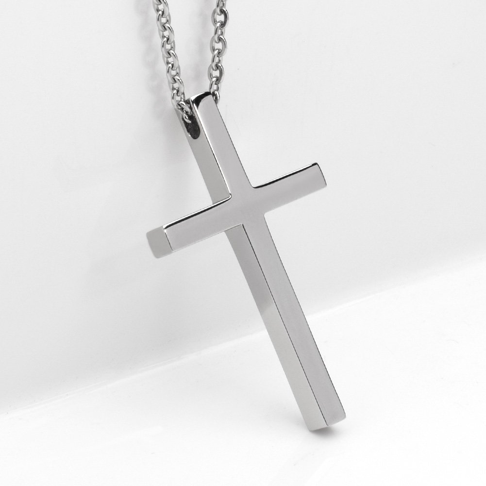 XIUDA Strong Cross Necklace for Women Men with Adjustable Chain(1.690.980.17