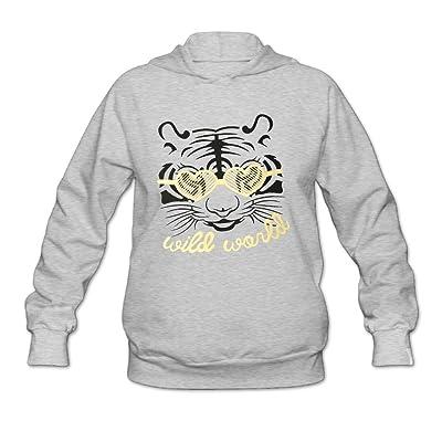 Custom Hoodies For Women's Tiger Pattern Pullover Sweatshirt Long Sleeve Shirt