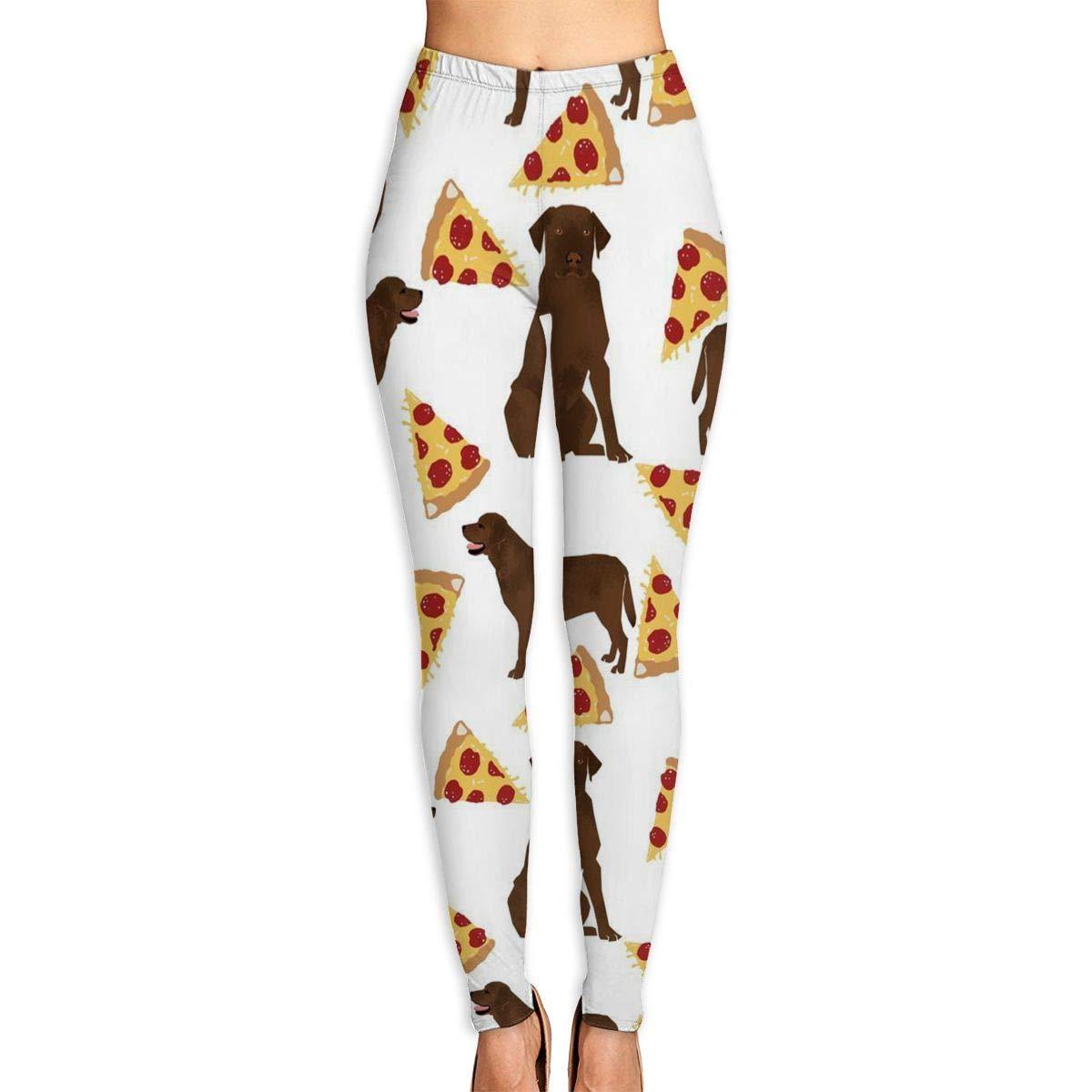 bc8dfb8376e36 Amazon.com: SDEYR79 Chocolate Labrador Pizza Yoga Pants for Women Sport  Tights Workout Running Leggings: Clothing