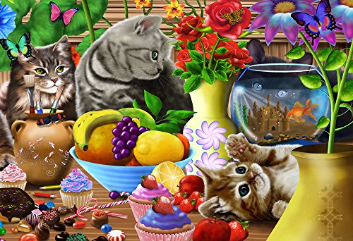 Vermont Christmas Company Curious Kittens Kids Jigsaw Puzzle 100 Piece