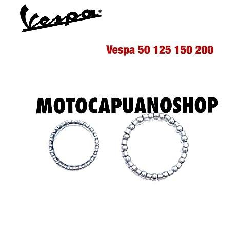 Par jaula Tapacubos Dirección manillar Vespa 50 90 125 150 160 Special R L ...