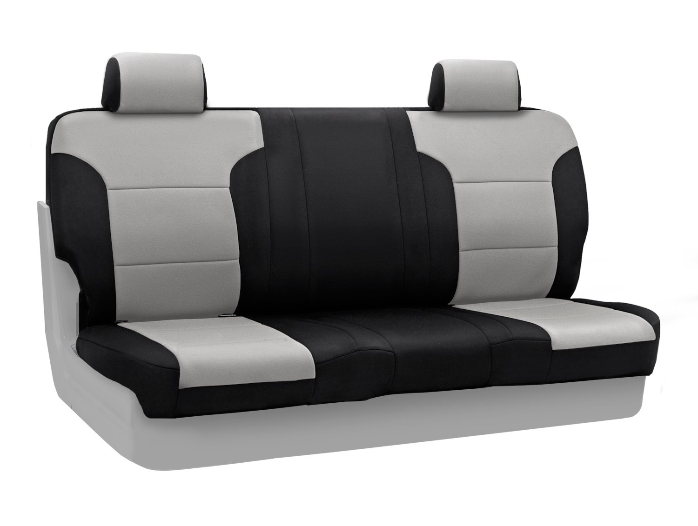 Coverking背面60 / 40ベンチカスタムフィットシートカバージープグランドチェロキーの選択モデル – NeosupremeブラックSides (グレー)B00IZTGXSG--