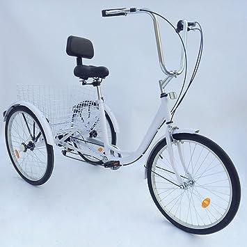 SENDERPICK - Tríciclo de Bicicleta para Adultos de 6 velocidades ...