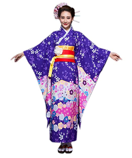5373bd10d YueLian Mujeres Kimono Robe Yukata Kimonos Vestido Tradicional ...