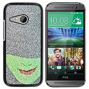 For HTC ONE MINI 2 / M8 MINI Case , Face Book Character Red Lips Read - Diseño Patrón Teléfono Caso Cubierta Case Bumper Duro Protección Case Cover Funda