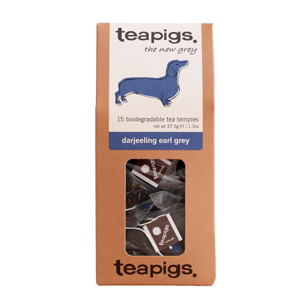 Tea Pigs Earl Grey Tea Bags Made with Whole Leaves, 15x37.5g