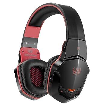 LHZTZKA Auriculares para Videojuegos, Auriculares estéreo para Juegos, Auriculares inalámbricos, Bluetooth, Juego