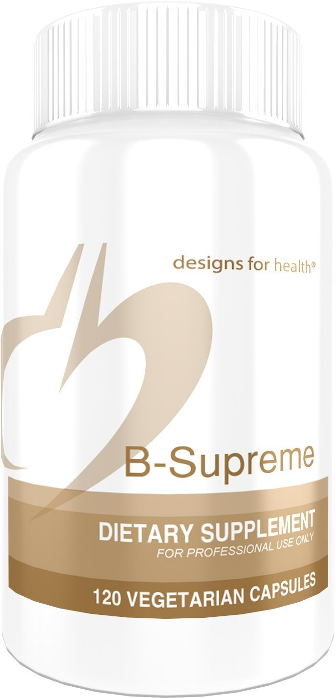 Designs for Health - B-Supreme - 120 Capsules, B Complex with Active Folate & B12