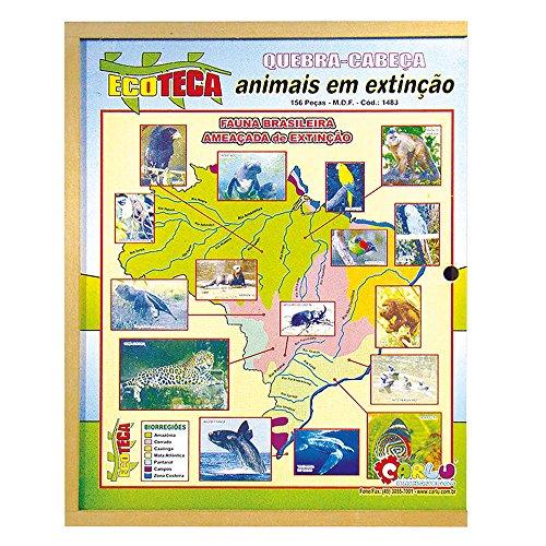 Quebra-Cabeça Animais em Extinção Carlu Brinquedos