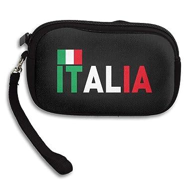 Coin Purse Italian Flag Custom Small Wallet Clutch at Amazon Women's