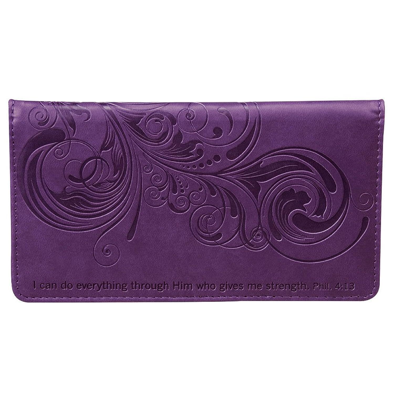 Pretty Checkbook Cover ~ Philippians purple checkbook cover apparel