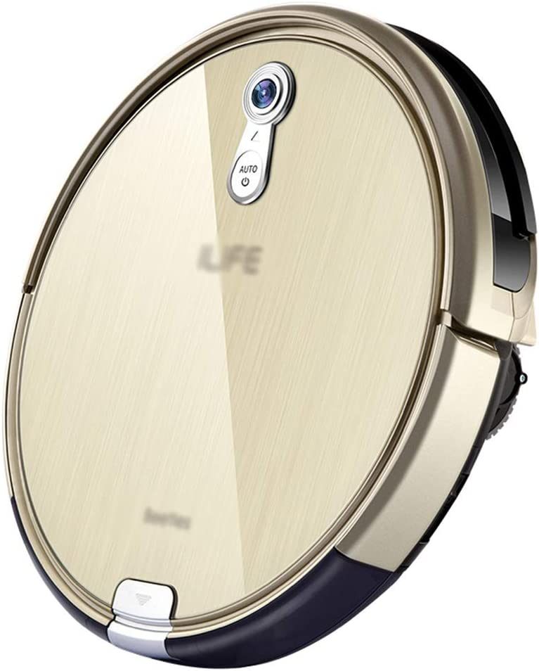 Robot Vacuum Cleane Office Ultra-thin Smart Vacuum Cleaner Robot Hoover Vacuum Cleaner Home Sweeping Robot (Color : Champagne gold, Size : 31 * 31 * 7.4cm)