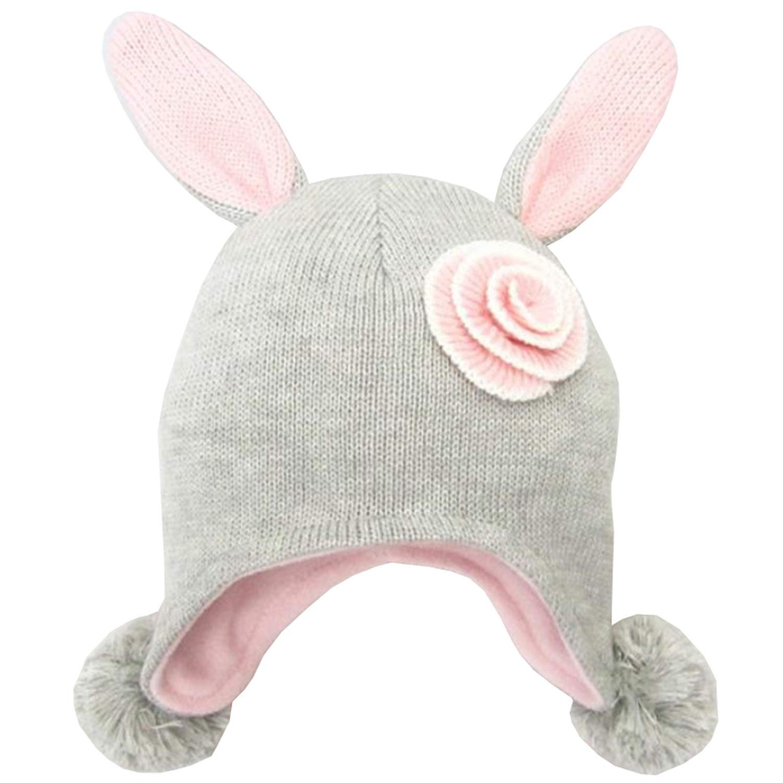 Eric Carl New Flower Winter Baby Hats for Girls Children Hat Fashion Knitted Autumn Winter Warm Caps Kids Girls Hats