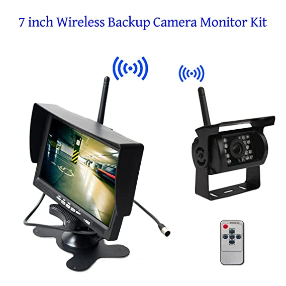 2.4ghz Wireless Rear View Video Transmitter & Receiver For Car Camera Monitor Consumer Electronics