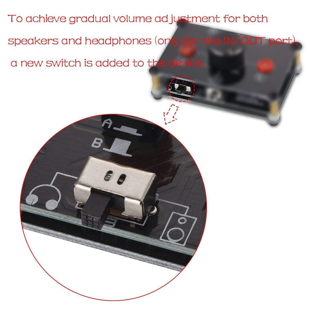 1 -Out 3.5/mm Stereo Audio 1/passive Selector Commutateur Splitter Box Commutateur audio st/ér/éo passive Selektor -2/en 1/ 2 Nobsound Little Bear mc102/Mini 2/