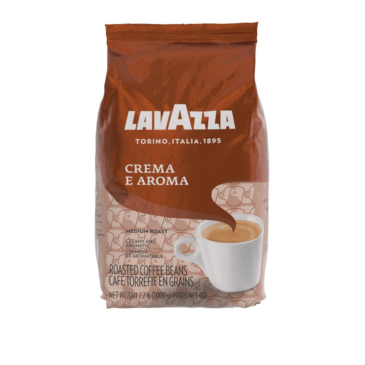 Lavazza Crema e Aroma Whole Bean Coffee Blend, Medium Roast, 2.2-Pound Bag