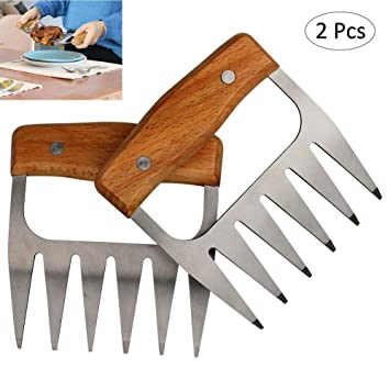 OUTANG Carne Tenedores Garras Tiras De Cerdo Trituradas Garras Aparatos De Cocina para Barbacoa Trituración Tirando
