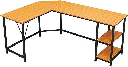 Reviewed: GreenForest L Shaped Desk 65.7×47 inch Large Size Corner Computer Desk
