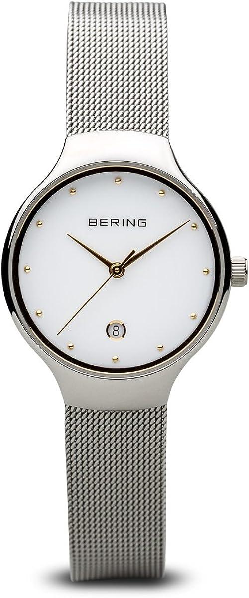 BERING Reloj Analógico para Mujer de Cuarzo con Correa en Acero Inoxidable 13326-001