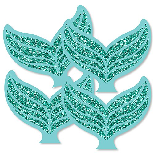 - Let's Be Mermaids - Tail Decorations DIY Baby Shower or Birthday Party Essentials - Set of 20