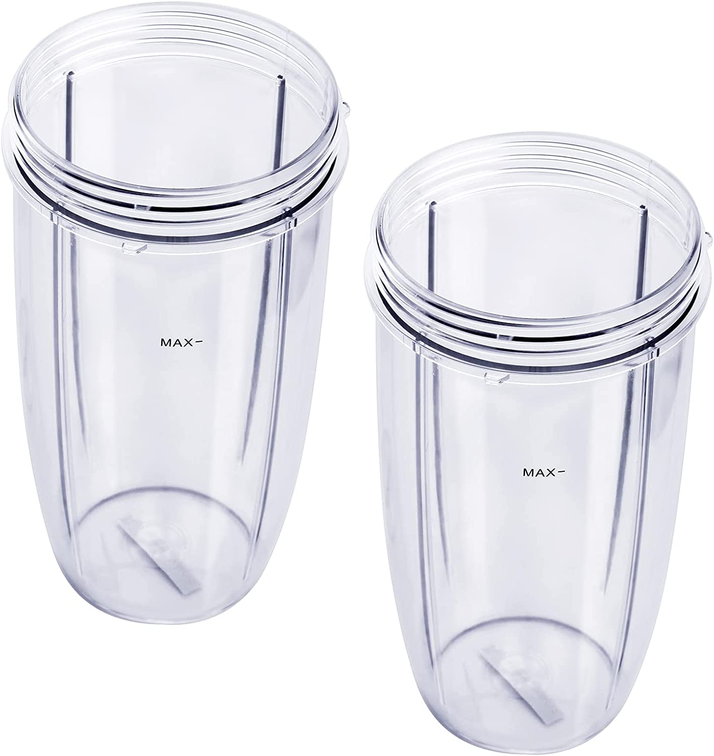 Blender Cups Replacement for nutribullet 32oz, Compatible with nutribullet Blender 600W and 900W Models NB-101B, NB-101S, NB-201. Clear, Upgraded Material, Pack of 2