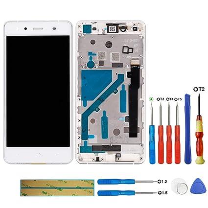 Swark - Pantalla LCD Compatible con BQ Aquaris X5 (Marco y ...