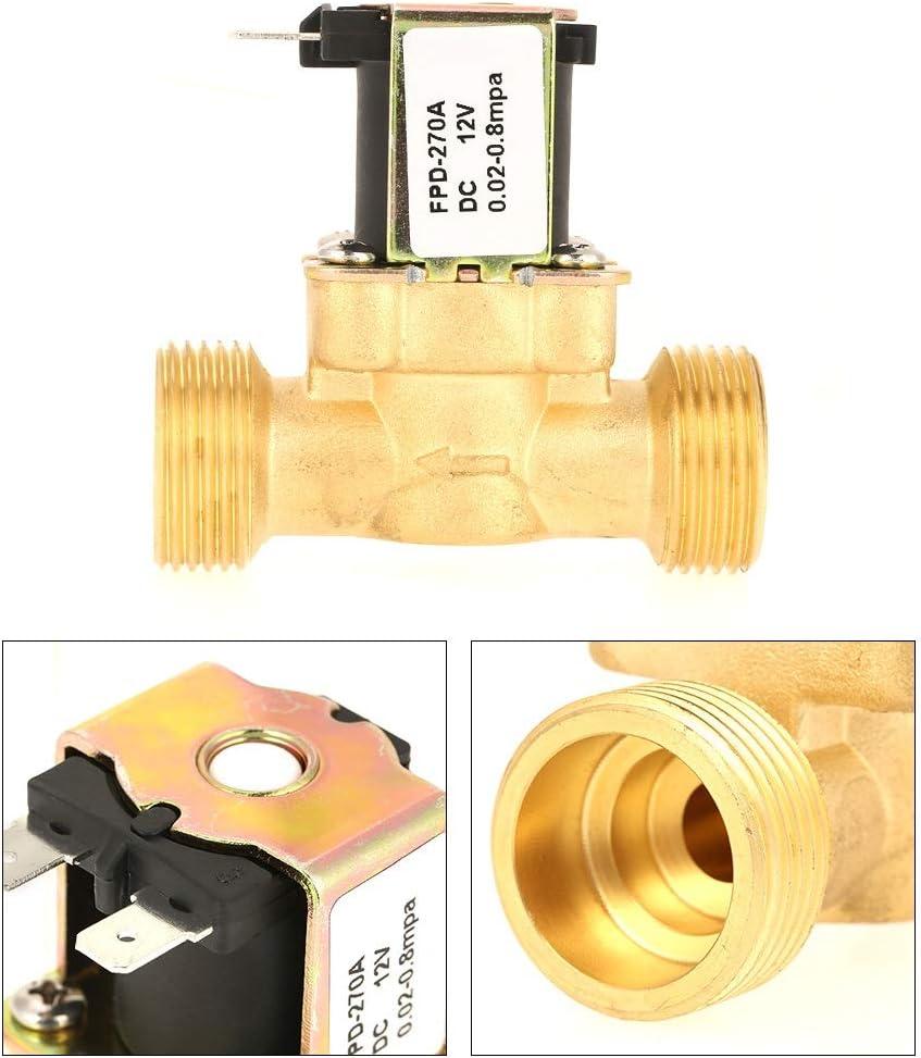 Samfox Elettrovalvola a Solenoide Elettrica in Ottone Normalmente Chiuso 12V DC G3 4 per Carburanti di Gas ad Aria