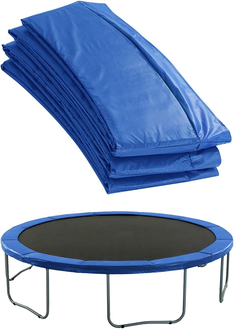 Upper Bounce - Cubierta de Protección para Bordes de Repuesto Premium (Cubre Resortes Muelles) para Cama Elástica Trampolín Redondo - Espesor 1.9 cm - Cerco 25.4 cm - Azul
