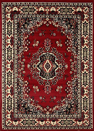 """Traditional Area Rug, Supreme Red 5'2""""x7'2"""