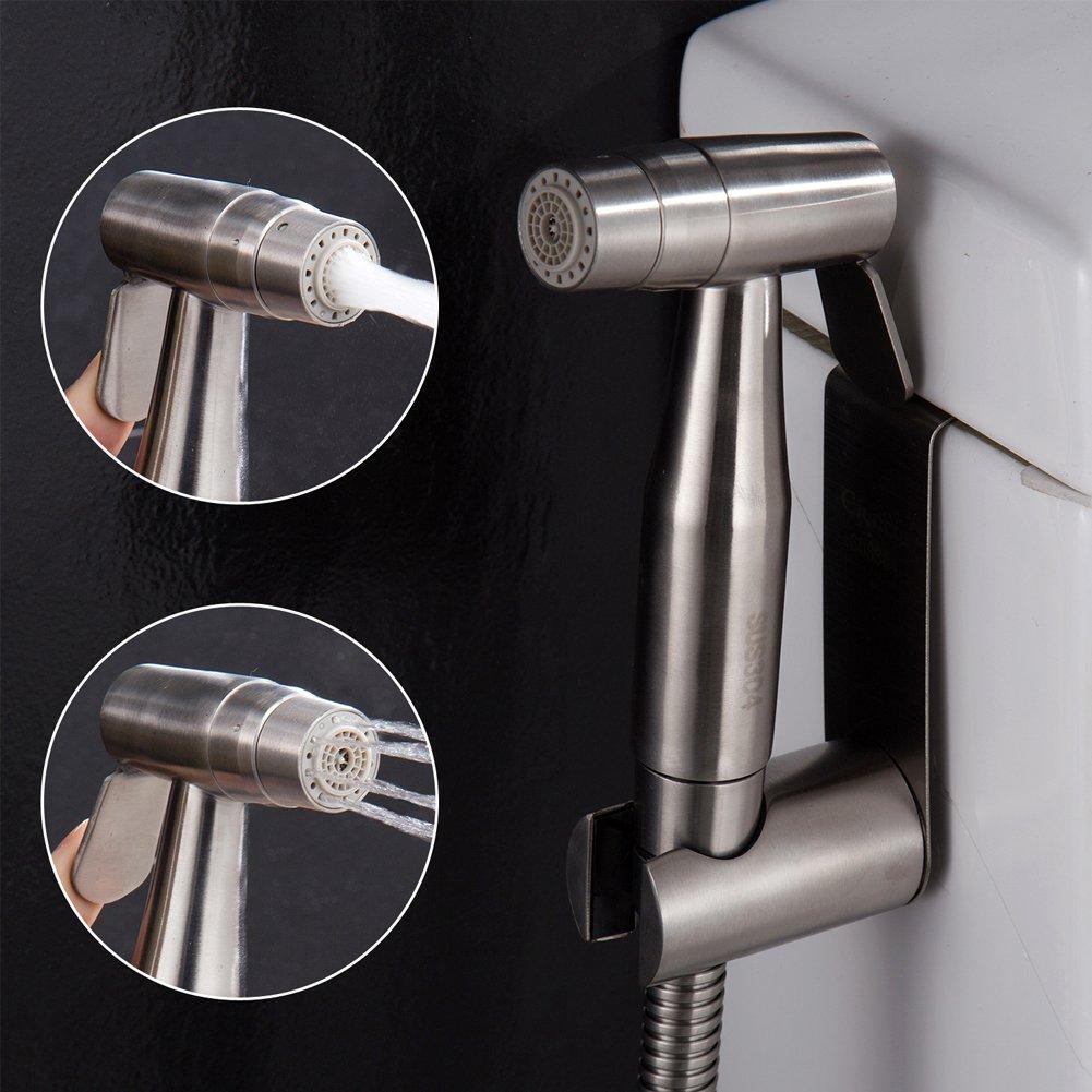 CIENCIA Hand Held Bidet Sprayer Premium Stainless Steel Sprayer Shattaf - Complete Bidet Set for Toilet, Hand Bidet Sprayer for Toilet WS024AF