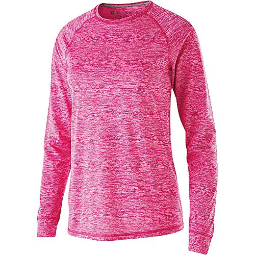 Light V95 (Women's Electrify 2.0 Shirt L/S Holloway Sportswear M Power Pink Heather)