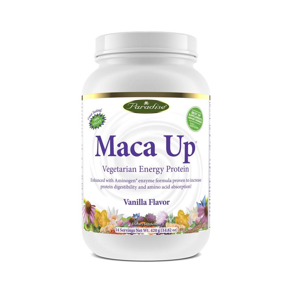Paradise Herbs Maca Up Protein Powder, Vanilla, 15.87 OZ
