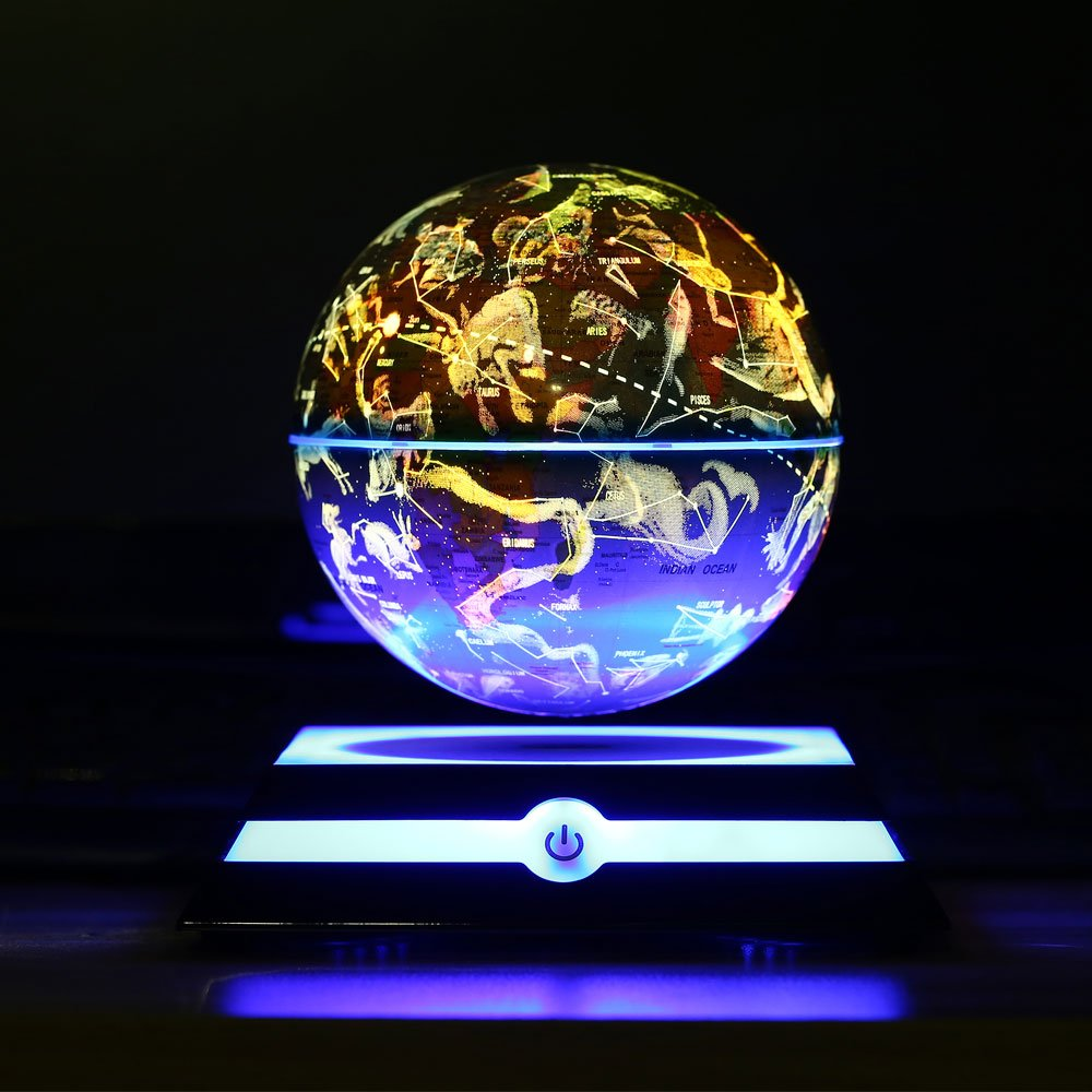 Levitating Globe, Magnetic Floating Rotating Globe with Illuminated Constellation Map for Home Office Decor, Christmas Birthday Gift 6 inch (Blue) by MFG (Image #5)