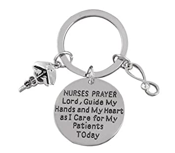 Enfermera, enfermera Oración llavero, llavero de regalo de ...
