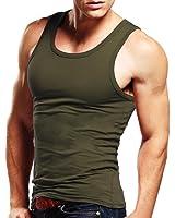 Xudian Men Tank Top Sleeveless A-shirt Crew-neck