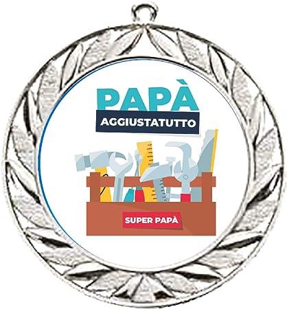My Custom Style Medaglia Sportiva #Festa del pap/à Aggiustatutto# Gold 35mm