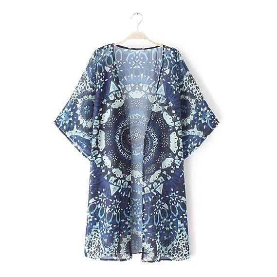 DEELIN La Mandala De Las Mujeres De La Manera del Verano Imprime Kimono Rebeca Floja Camisa