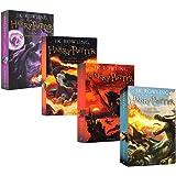 进口英文原版正版 Harry Potter 4+5+6+7 哈利波特与火焰杯 哈利波特与凤凰社 哈利波特与混血王子 哈利波特与死亡圣器4本合集