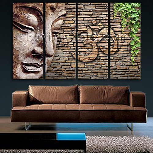 Extra Large Abstract Feng Shui Zen Wall Art Print On Canvas Buddha Picture  Decor, Oversized