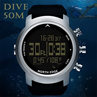 Manzzy Men Diver Watch Waterproof 100m Smart Digital Watch Sport Compass Watch