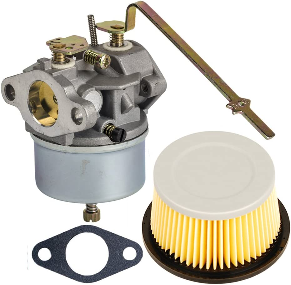 HIFROM Replace Carburetor Carb with Gasket for Tecumseh 631918 HS40 4HP HS50 5HP Engine with Air Filter for 30727 30604