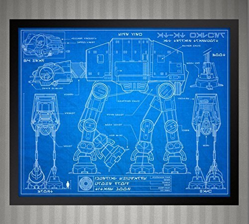 New Amazon.com: Star Wars Blueprint Style - AT-AT Walker: 8x10 print &JW06