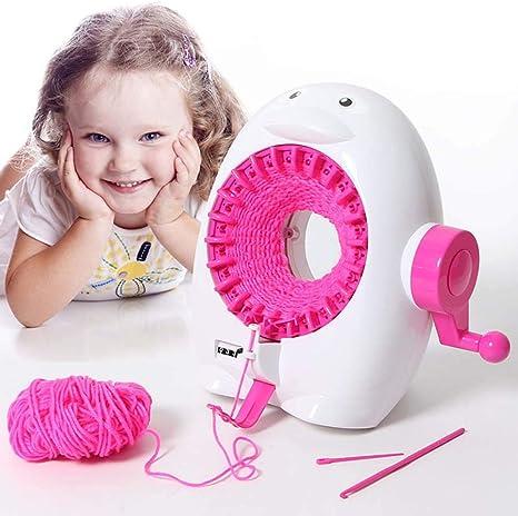 FXQIN 22 Agujas Máquina de Tejer para niños, máquina de Coser ...